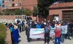بني ملال: عمال الحراسة والنظافة يتظاهرون ضد الطرد والبطش
