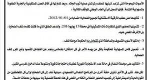 ضحايا النظامين الأساسيين: إحتجاجات وندوة صحفية